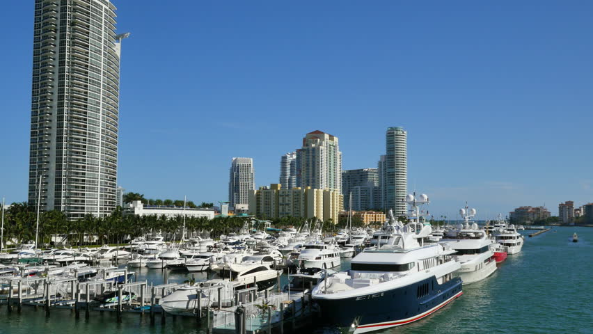 Motion video of the Miami Beach Marina 4k | Shutterstock HD Video #12778343