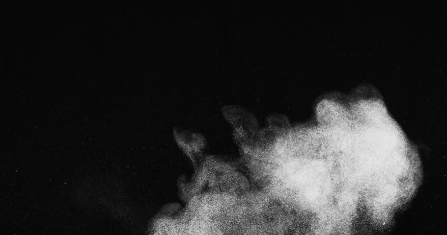 Streaky dust puff with mild turbulence shot in studio | Shutterstock HD Video #12802004