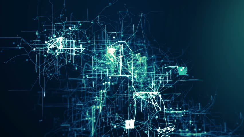 Abstract tehnology background. 3d grid. Full HD seamless loop | Shutterstock HD Video #12865655