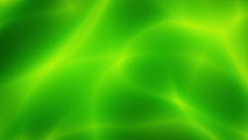 Flowing Green Smooth Abstract Fractal Background Loop 2