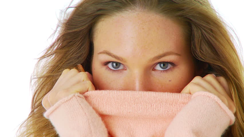Woman with a pink sweater