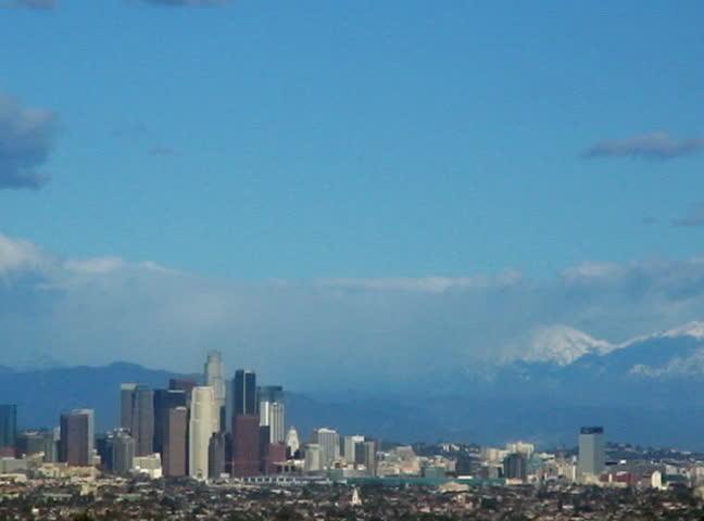 time lapse Los Angeles Downtown 30sec