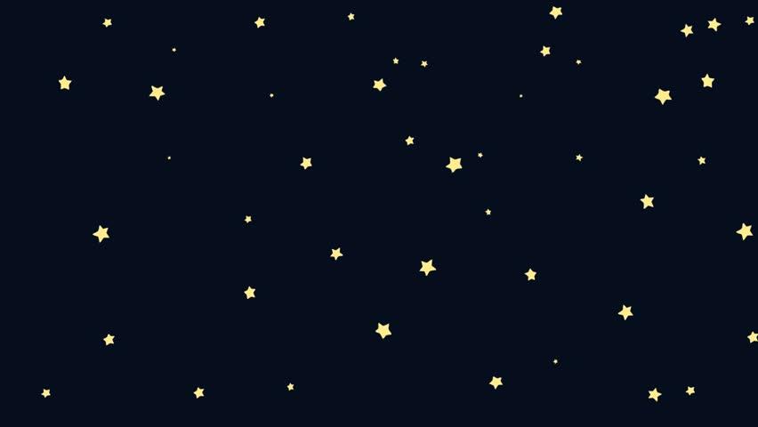 Animated Cartoon Meteorite Hovering In Space Stock Footage ...