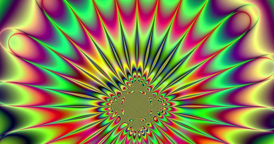 Abstract Psychedelic Trippy Colorful Star Stock Footage Video 100