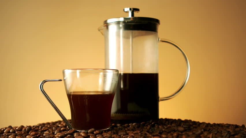 Milk Pouring Into A Coffee Cup In Slow Motion Hd Stock Video Clip