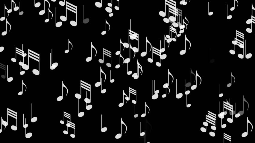 4k Music Notes Backgroundsymbols Melody Composition Melody Sound