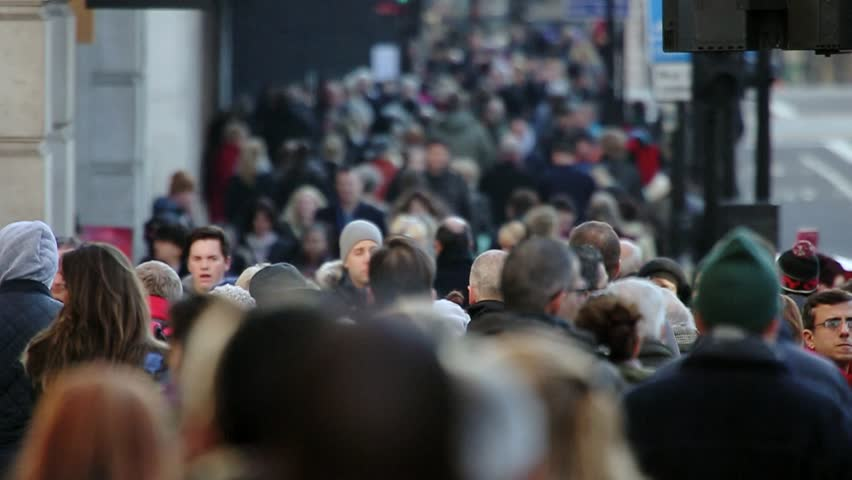 London, Nov 2015: After years of economic downturn, retail areas like Oxford street are once again packed with thousands of people out spending money in the capital's shops. Every age & race are here. | Shutterstock HD Video #13021235