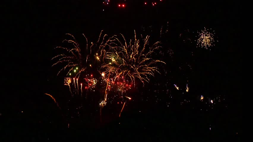 Spectacular display of fireworks at Alexandra Palace in London celebrating Guy Faukes anniversary