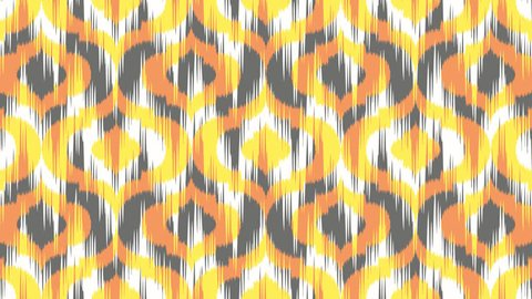 Seamless Looping Abstract Ikat Zigzag Ogee Background Pattern