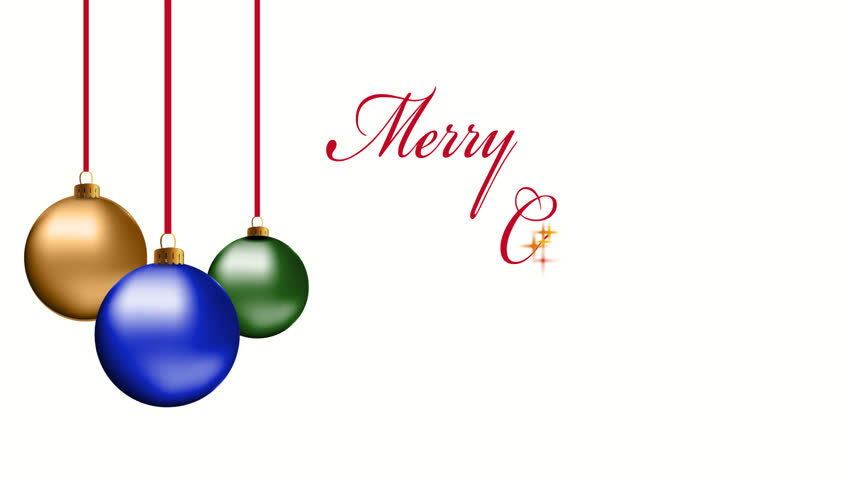 Stock video of seasons greeting written in sparkles with 13111007 hd0020christmas ornaments with sparkle text merry christmas m4hsunfo