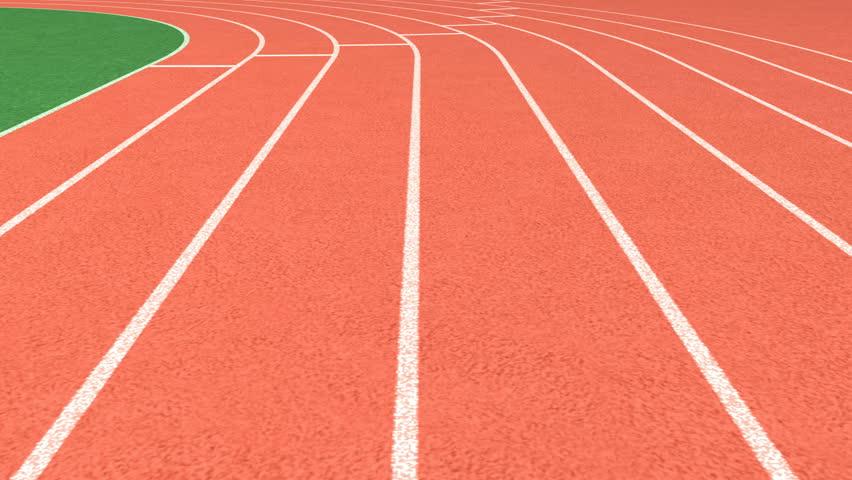 Athletics stadium running track, sport field – looping    Shutterstock HD Video #13135238