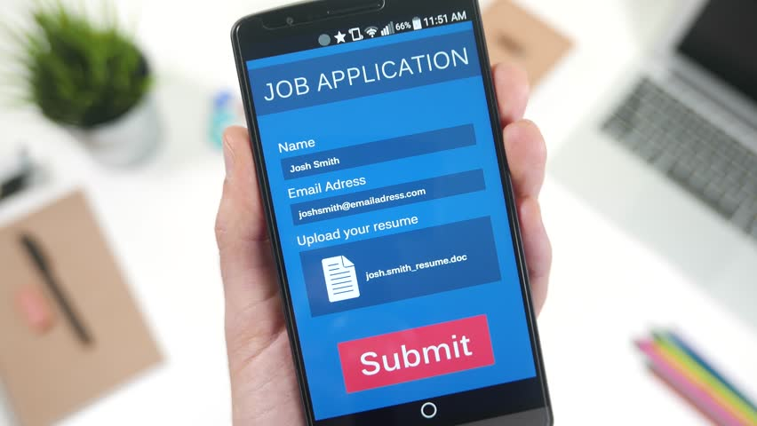 Sending A Resume On A Job Application App On Mobile Smartphone Screen.  Stock Footage Video 13135595 | Shutterstock  Resume App