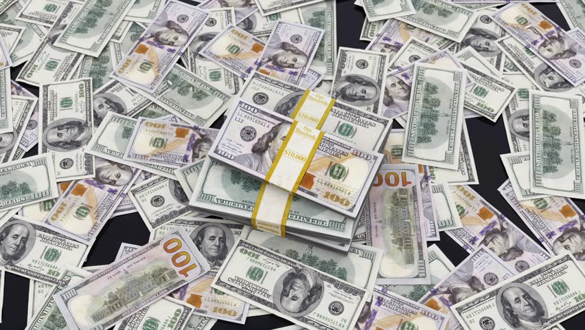 One hundred dollar bills on the table.  | Shutterstock HD Video #13183445