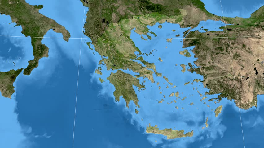 Glide over the satellite map of spain country area highlighted and notio aigaio region extruded on the satellite map of greece elements of this image furnished gumiabroncs Image collections