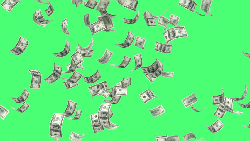 One hundred dollar bills falling through air | Shutterstock HD Video #13296875