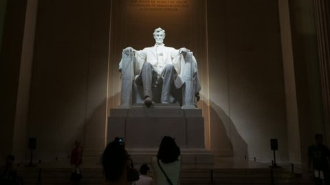 WASHINGTON, DISTRICT OF COLUMBIA, USA- SEPTEMBER 10, 2015: walking into the interior of the lincoln memorial in washington, dc