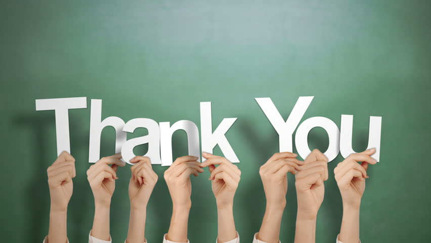 Hands Holding Up Thank You Stock Footage Video (100