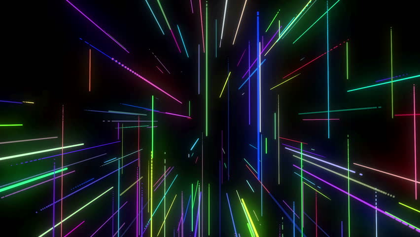 Animation of colorful neon disco lasers lights moving in 3d space animation of colorful neon disco lasers lights moving in 3d space seamless motion background for voltagebd Images