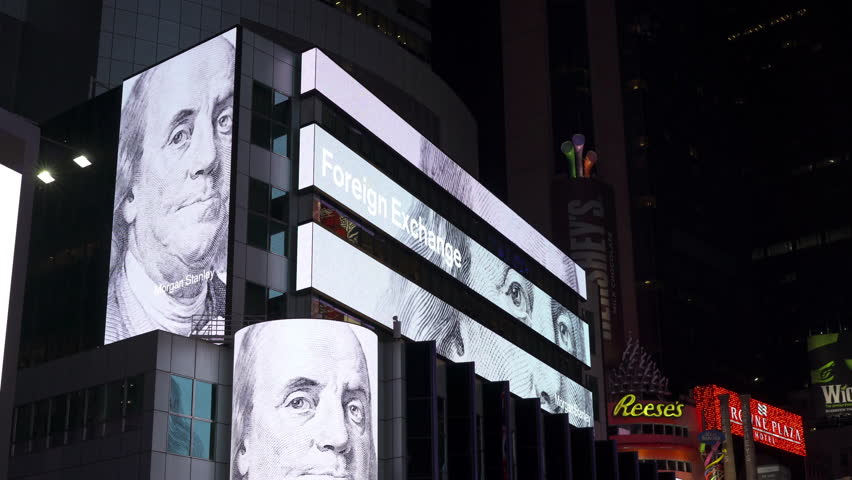 New York Ny November 26 Us Dollar To Other Foreign Currency Exchange Rate On Stock Ticker 2017 In City