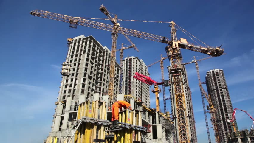 Building Construction Stock Footage Video