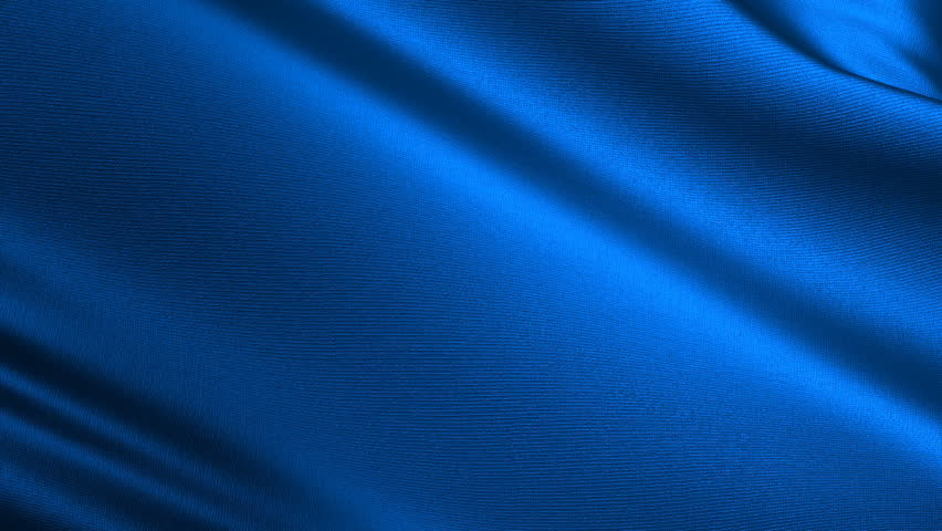 Abstract background in the form of a fluttering silk fabric of dark blue color