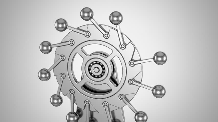 Stock video of perpetual motion machine. gray background,   13467155 ...
