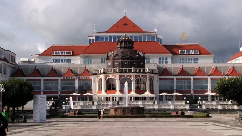 SOPOT POLAND SEPTEMBER 25 2013 Exterior Of A Spa Hotel In Sopot