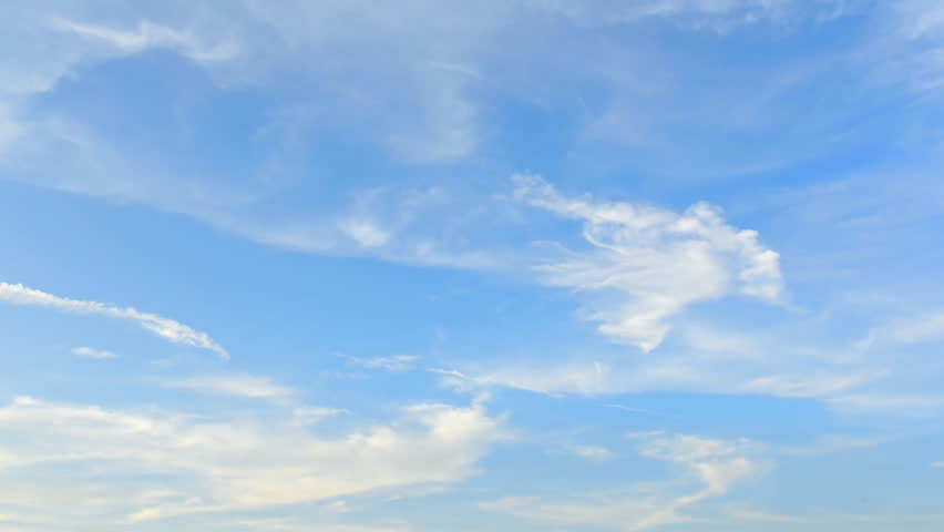 Timelapse of moving clouds and blue sky | Shutterstock HD Video #13668875