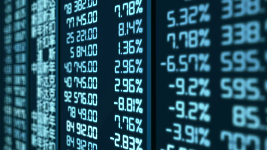Animated trading statistics at Asian stock market, share price indices updating | Shutterstock HD Video #13681223