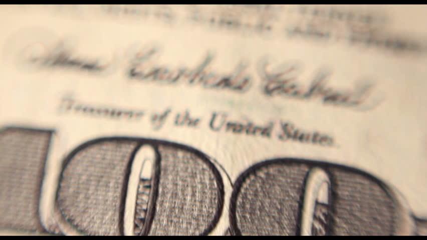100 dollar bill. Macro. | Shutterstock HD Video #13682495
