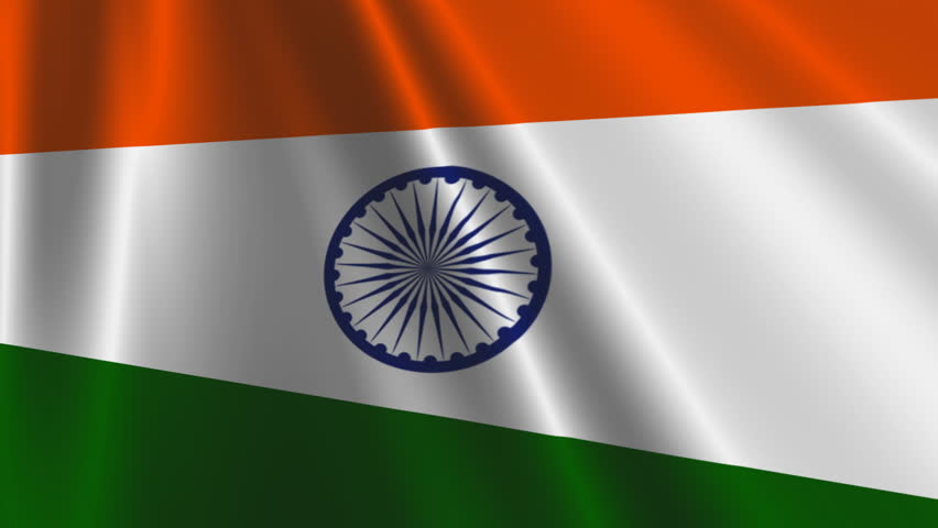 Clothe India Flag Hd: Indian Flag HD. Looped. Stock Footage Video 1821566