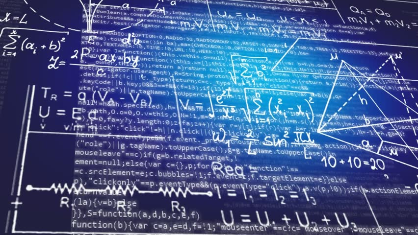 Stock Video Of Math Symbols Moving In Parallax 13176455 Shutterstock