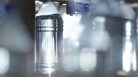 stock video footage automatic bottling line for bottled clear water