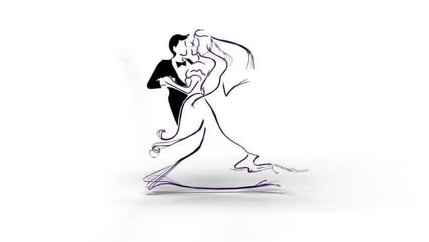 Dancing Couple Like A Symbol Of Wedding Dance Royalty Free Video