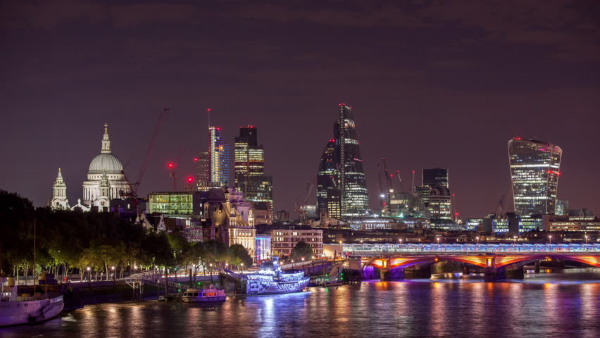 Nighttime Timelapse View Of London Stock Footage Video 100 Royalty Free 13746635 Shutterstock