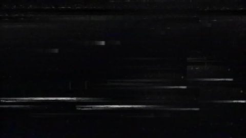 Old Old TV Glitch Disturbances on a Black Background