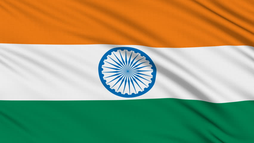Clothe India Flag Hd: Flag Of India With Fabric Structure; Looping Stock Footage