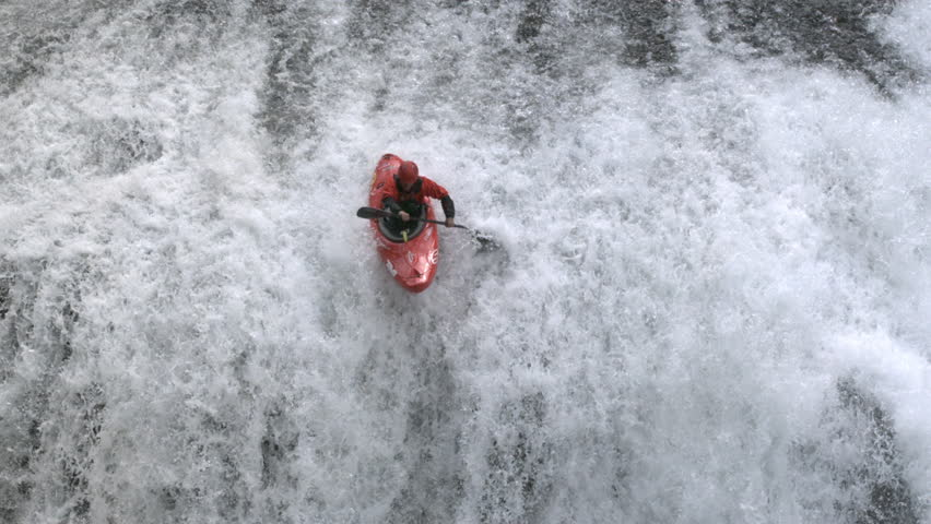 WS SLO MO Young man white water rafting - USA, Washington State, White Salmon River | Shutterstock HD Video #13803035