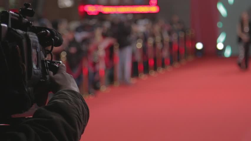 Videographer shoots festive event   Shutterstock Video #13879982