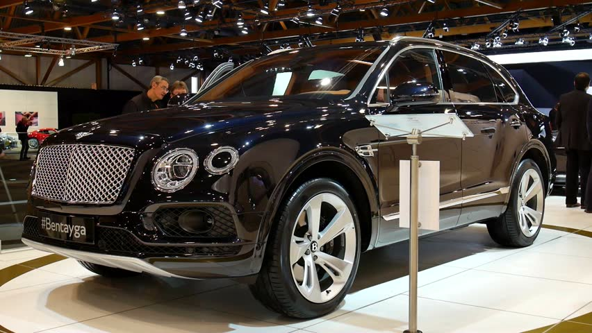 Brussels Belgium January Black Bentley Bentayga