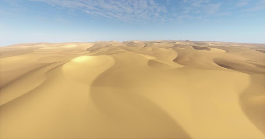 4k flying over the desert & sand dunes. cg_03248_4k