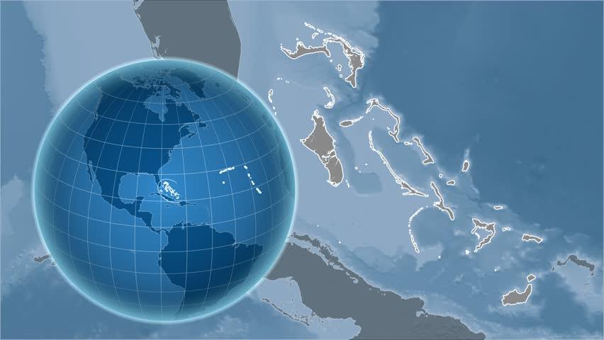 Bahamas Elevation Map.Bahamas Shape Animated On The Stock Footage Video 100 Royalty Free