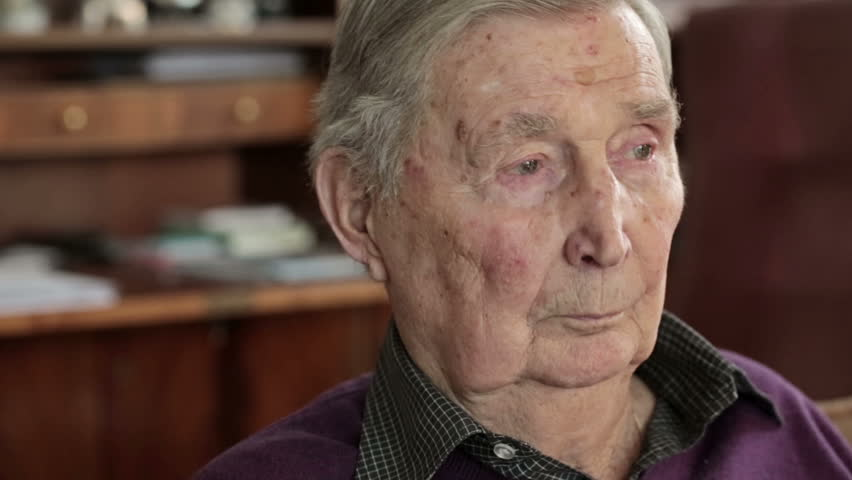 Old man at home.Elderly man looking thoughtful and a bit sad.Camera slowly panning. | Shutterstock HD Video #13999595
