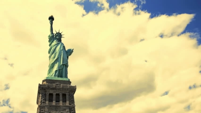 Time Lapse view of the Statue of Liberty | Shutterstock HD Video #1402000