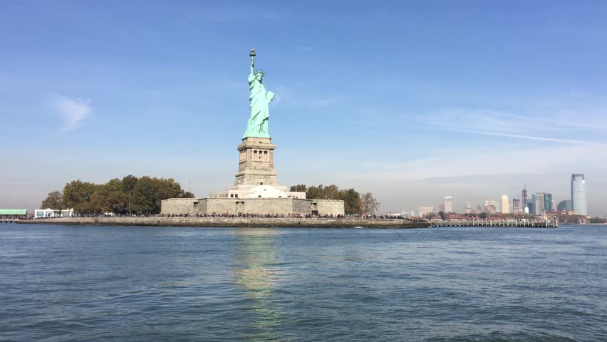New York Statue of Liberty from Ferry | Shutterstock HD Video #14041235