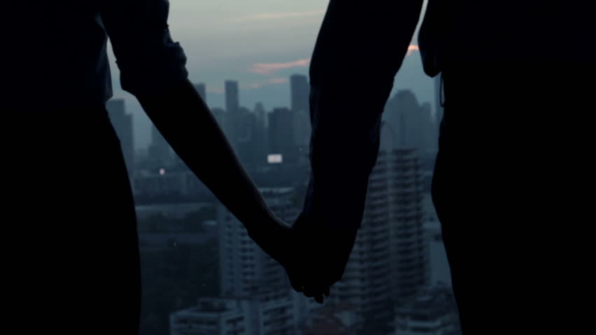 Couple Holding Hands Standing Close Stock Footage Video