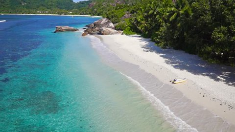 Luxury beach in Seychelles island paradise