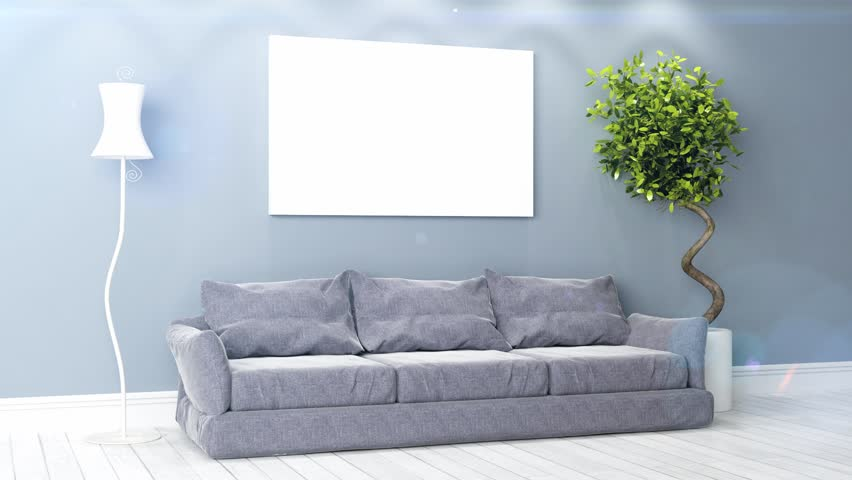 Beautiful Living Room 3D Render