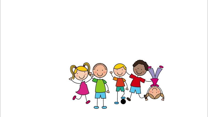 Happy Children Design Video Animation Stock Footage Video