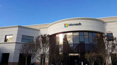MOUNTAIN VIEW, CA/USA - JANUARY 24: Microsoft corporate building in Mountain View, CA on Jan 24, 2016. Microsoft develops and sells computer software and consumer electronics.